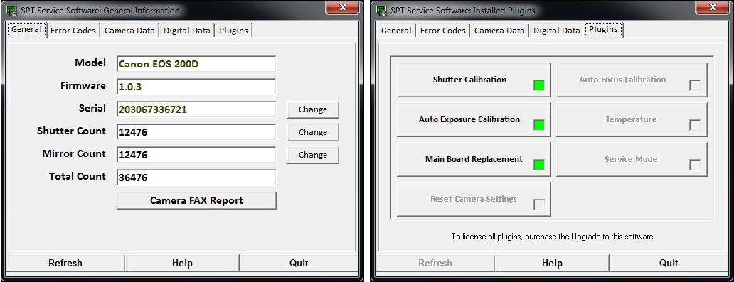 Software Canon EOS 200D_SL2 Professional | SPT / C&C