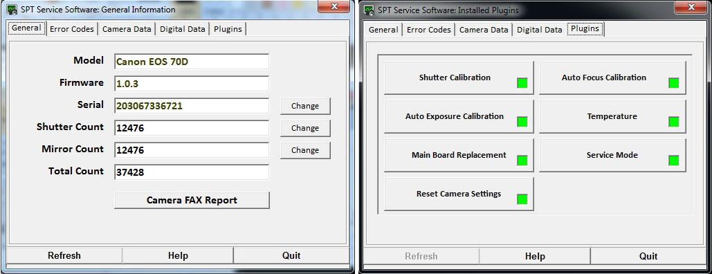 Software Canon EOS 70D Professional Advanced | SPT / C&C