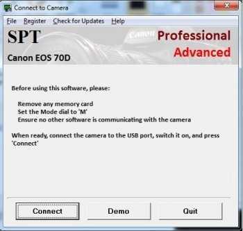 SPT Canon EOS Demonstration Software