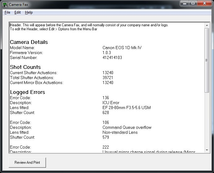 Canon Pro 4000 Error Codes