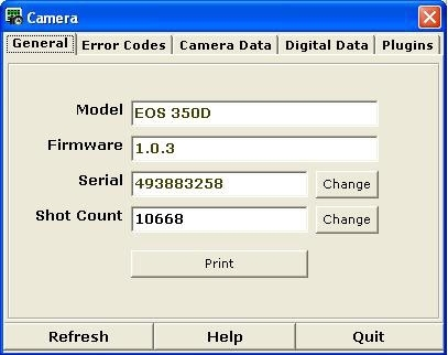 Software Canon EOS XT 350D Essential | SPT / C&C